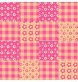 Seamless patchwork pattern pink