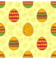 Seamless pattern with Easter painted eggs vector image vector image