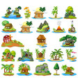 set house on isolated island vector image