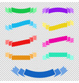 set of flat colored ribbons isolated banners on a vector image
