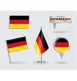 Set of German pin icon and map pointer flags vector image