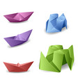 set with origami boats vector image