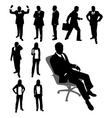 Silhouettes of businessmen vector | Price: 1 Credit (USD $1)
