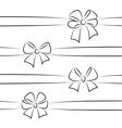 Sketch bows and ribbons vector image vector image