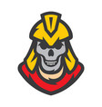 skull spartan soldier cartoon vector image
