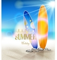 Summer holidays background with surfboards vector image vector image