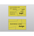 Summer yellow stylish business card and visiting vector image