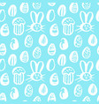 trendy easter seamless pattern vector image vector image