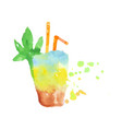 tropical layered cocktail colorful hand drawn vector image vector image