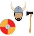 Viking set vector image vector image
