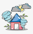 weather natural conditions with diferents vector image vector image