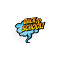 welcome back to school sale advertisement isolated vector image