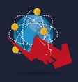 world wall street market financial vector image vector image