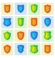 Set of different shield shapes icons vector image