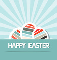 Happy Easter Retro Paper Background with Eggs vector image