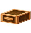 A wooden box vector image vector image