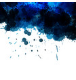 Abstract blue ink wash painting