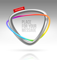 Abstract frame with tubular colorful element vector image vector image