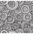 abstract seamless pattern of circles lines and vector image vector image