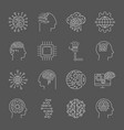 ai icons editable stroke vector image vector image