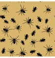 Beetle and spider insects seamless pattern 666 vector image