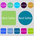 Best seller sign icon Best-seller award symbol 12 vector image