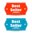 best seller stickers isolated background stylish vector image