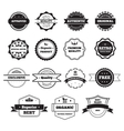 Black and White Retro Stamps and Badges Isolated vector image