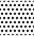 black polka dots seamless background pattern vector image