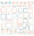 bullet journal hand drawn elements vector image vector image