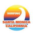 California typography sport t-shirt graphics vector image vector image