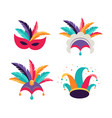 carnival party purim background masks clown vector image