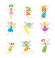Cartoon characters fairies set