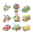 Cartoon collection of Transportation- Colored vector image vector image