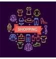 Clothing Shopping Concept vector image