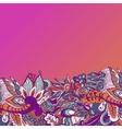 Colorful flowers pattern background Floral frame vector image vector image