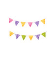 colorful party flags design element for birthday vector image
