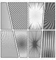 comic book gray concept vector image vector image