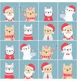 cute french bulldog christmas flat style block vector image