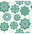 festival graphic of islamic geometric art vector image