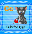 flashcard letter c is for cat vector image