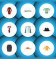 flat icon clothes set of trunks cloth elegant vector image vector image