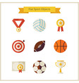 Flat Sport and Competition Winning Objects Set vector image vector image