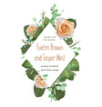 floral wedding invitation elegant invite card vector image vector image
