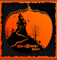flyer invitation to celebrate halloween vector image vector image