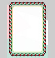 frame and border of ribbon with palestine flag vector image