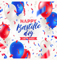 french national holiday - bastille day vector image
