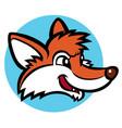 funny cartoon fox vector image