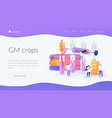 genetically modified plants landing page concept vector image vector image