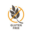 gluten free icon - ear wheat and ban sign vector image vector image